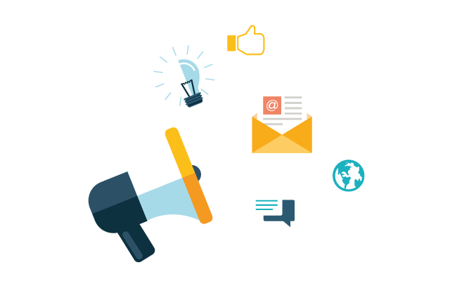 online markedsføring ikon